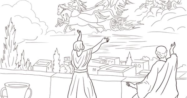 Elisha And The Invisible Angel Army Coloring Page Jehovah