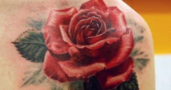 lovely rose 3D tattoo