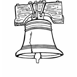 Liberty Bell Coloring Page Coloring Pages Liberty Bell Coloring For Kids