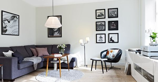 65 metres of nordic style small apartment living room decoration