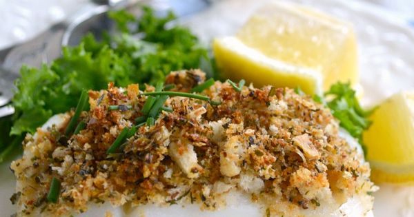 Baked white fish with parmesan herb crust ready in 20 for Baked whiting fish