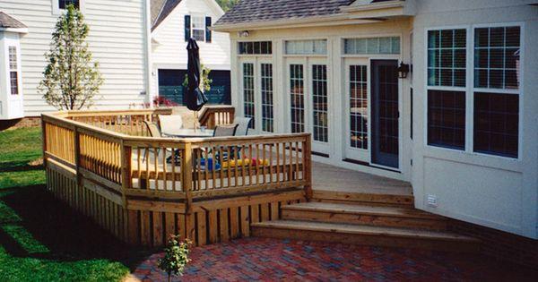 Deck And Patio Corner Steps Backyard Fun Pinterest