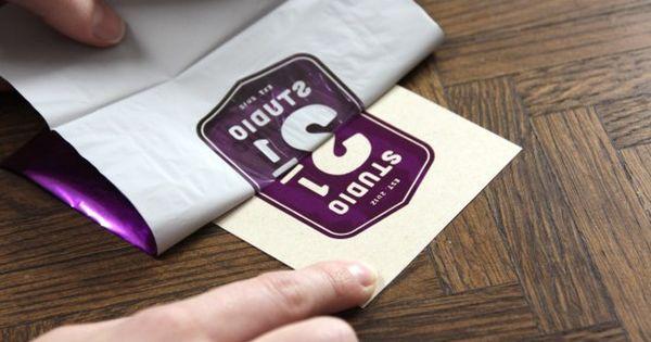 homemade foil stamping DIY FOIL TRANSFER