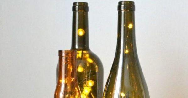 Botellas con luces de navidad luces de navidad luces y - Botellas con luces ...