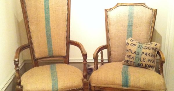 Burlap Dining Chairs by lemonAIDER, $495.00  Chair inspiration ...