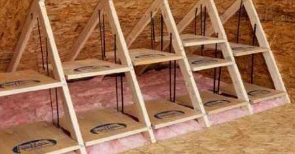 Attic Floor Storage Attic Organization Attic Flooring Attic