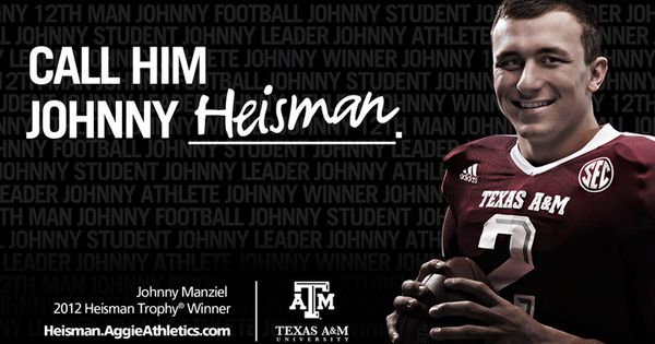 Johnny Heisman: Texas A&M's Johnny Manziel made history as the second Aggie