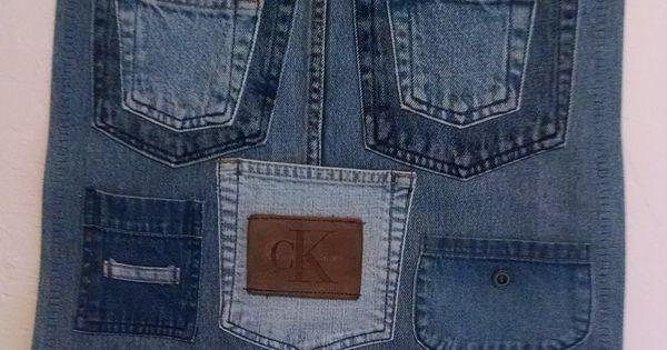 denim pocket organizer for sewing room att g ra med
