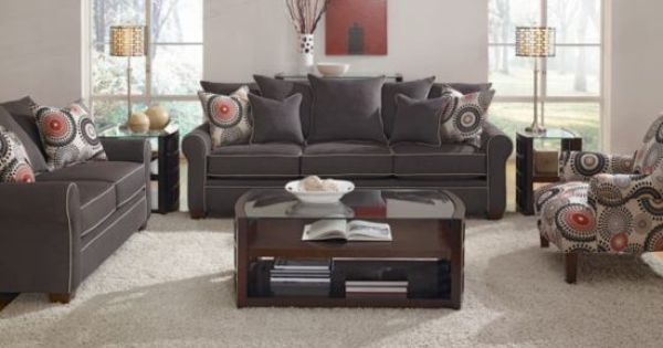 Cameron charcoal sofa american signature furniture for Sofa interiors studio city