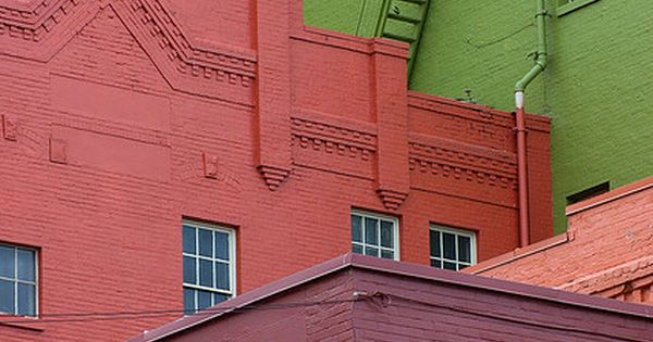 colorful painted brick buildings