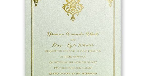 Demure Damask - Foil Invitation | Weddings, Wedding and ...