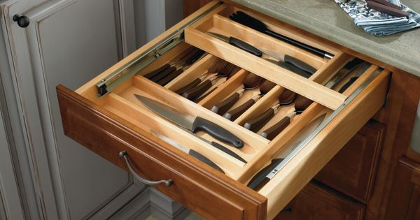 A Tiered Cutlery Drawer By Thomasville Cabinetry Is The