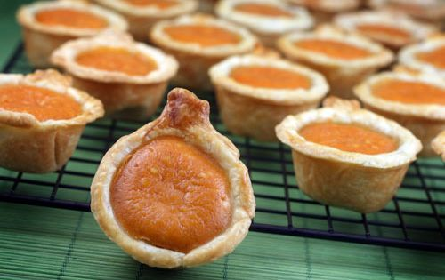 Mini Pumpkin Pie Bites - adorable and just enough after that huge