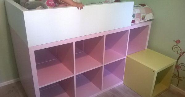 un lit enfant biblioth que diy diy kids furniture ikea. Black Bedroom Furniture Sets. Home Design Ideas