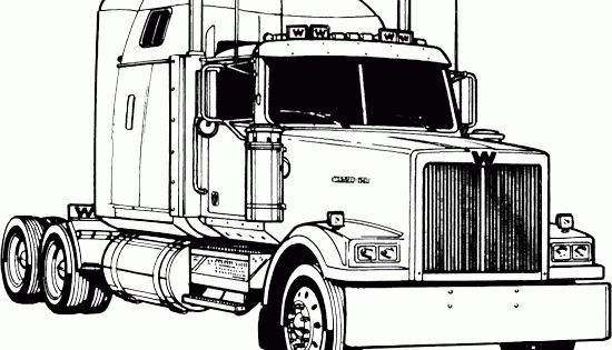 semi truck coloring pages truck coloring picture road kenworth coloring kids pinterest