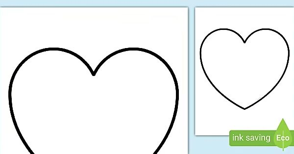 Free Blank Heart Template In 2021 Heart Template Valentine Day Cards Valentines Day Activities
