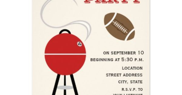 Tailgate Party Invitation | party ideas | Pinterest ...