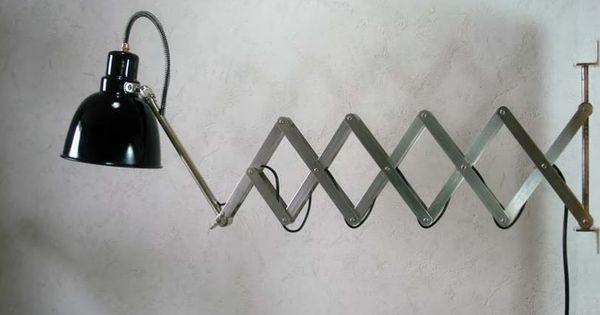 Applique accord on amba basel lampes d 39 atelier d 39 horlogerie du nom - Applique accordeon industrielle ...