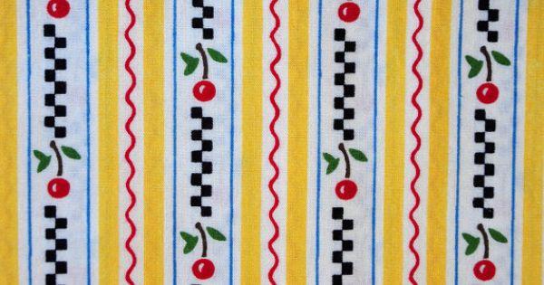 Kitchen Capers Recipe Fabric