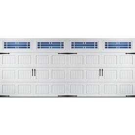 Pella Carriage House Series 192 In X 84 In Insulated White Double Gara Garage Door Windows Double Garage Door Garage Doors