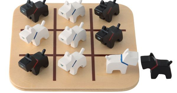 Scottie Dog Noughts Crosses by Muji. This is the cutest version of