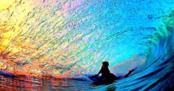 Sunset Rainbow Wave
