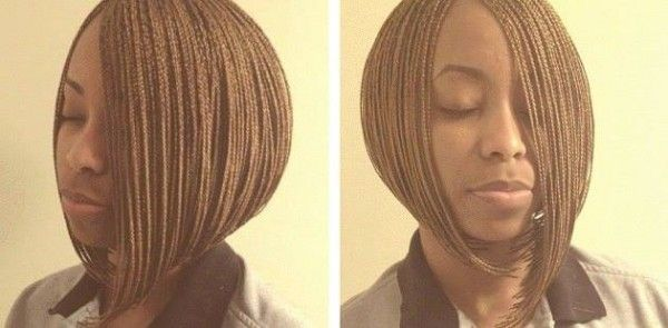 Micro Bob Plaits By Staci Cook Bob Braids Bob Braids Hairstyles African Hair Braiding Pictures