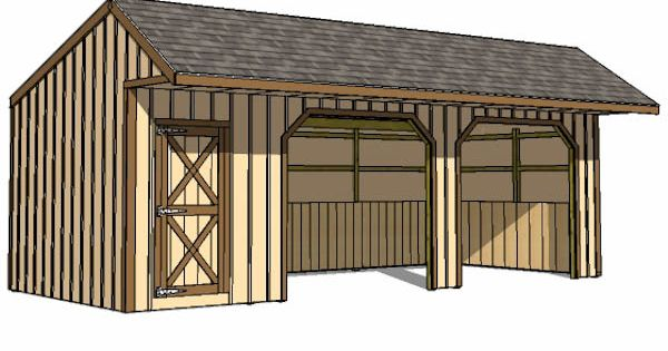 12x30 run in shed with tack room lean to shed plans for Tack shed plans