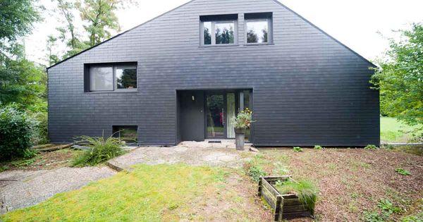 bardage en ardoises artificielles eternit ton gris. Black Bedroom Furniture Sets. Home Design Ideas