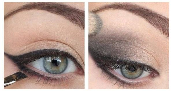 Smokey eye for green eyes- Adrianna Lima eye makeup (I don't think