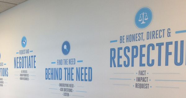 Company core values wall art inspiration | Wall graphic ...
