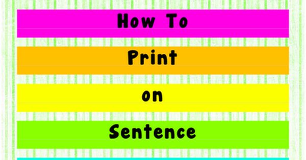 Classroom Freebies: Print on Sentence Strips!!!