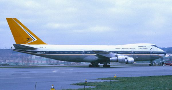 South African Airways Boeing 747 200 Zs Sal April 1975 South African Airways South African Airlines Boeing