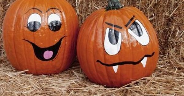 How To Paint Halloween Pumpkins Ehow Cute Pumpkin Faces Halloween Pumpkins Painted Pumpkin Decorating