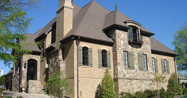 French stone and stucco dream home pinterest stucco for Stone and stucco house plans