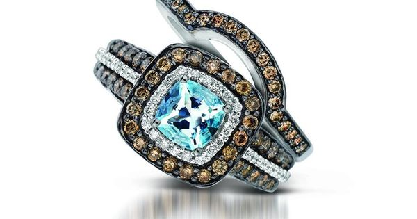 Matching Band for Le Vian's Sea Blue Aquamarine Ring- We love the