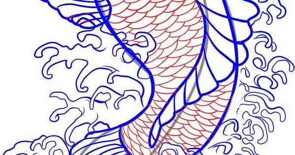 how to draw a koi fish dragoart