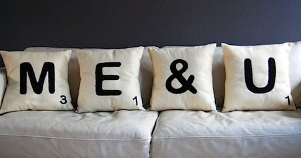 ME & U Love, Love, Love ~ All You Need Is Love Pinterest Scrabble, Pillows and Words With ...