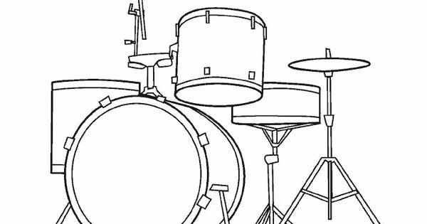 Dibujos Para Colorear De Instrumentos Musicales Plantillas Para Colorear De Instrumentos Musicales Tatuajedisenosmusicales Drums Pictures Drums Art Drums