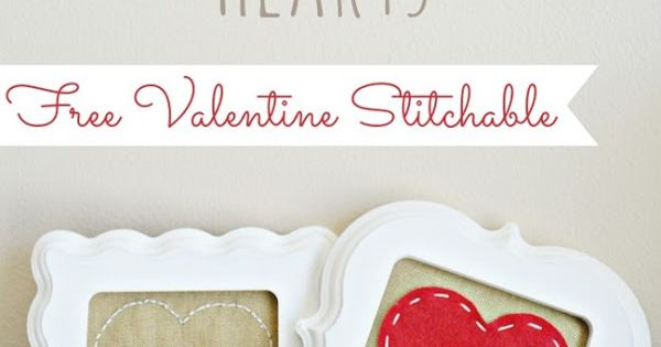FREE Stitchable: Conversation Hearts Valentine Pattern...six designs to choose from at u-createcrafts.com