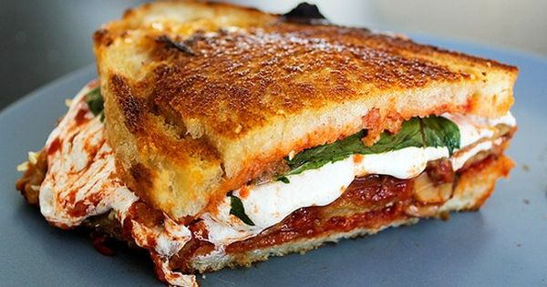 Grilled Cheese Pizza Sandwich | Wraps, Rollups and Sandwiches ...