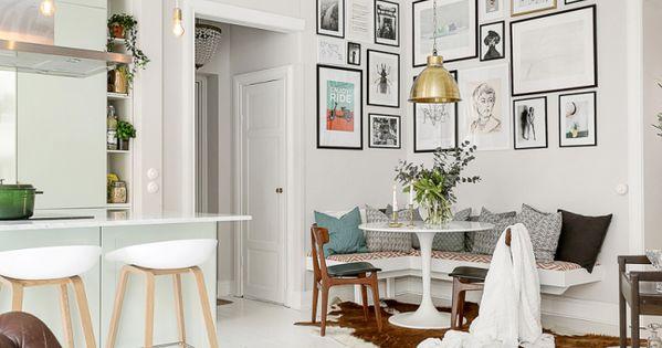 Lichte woonkamer met open keuken en zithoek huis inspiratie keuken pinterest - Opening tussen keuken en eetkamer ...