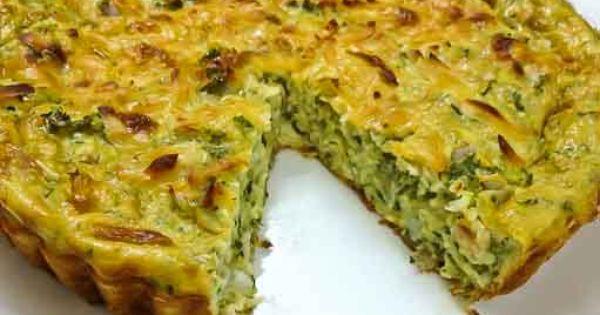 Zucchini pie, Zucchini and Pies on Pinterest