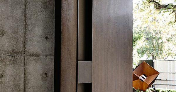 Original puerta de madera estilo moderno deco for Puertas originales madera