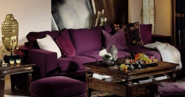 Colors Wine Plum Grape Purple Eggplant Cranberry Mauve Purple Living Room Furniture Purple Couch Drawing Room Decor