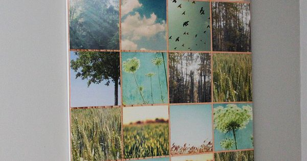 Tutorial to create your own art photo wall. {DIY Urban Outfitters Wall