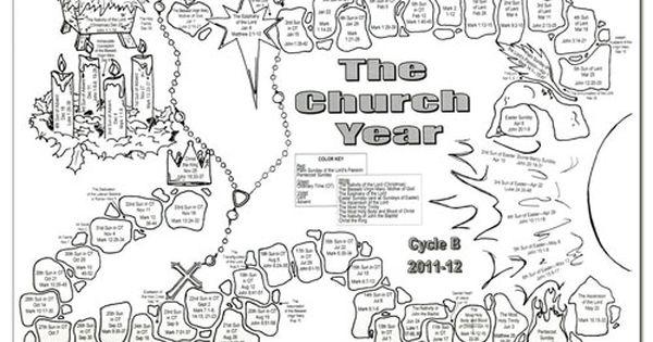 Liturgical calendar coloring page liturgical calendar for Catholic liturgical year coloring page