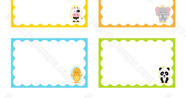 Animal name tags locker name tags pinterest animals for Locker tag templates
