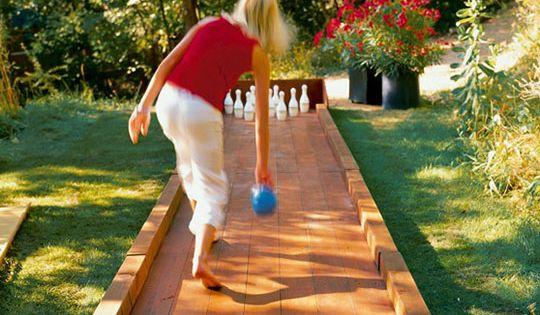 DIY Backyard Bowling Alley. Someday we will have a yard big enough