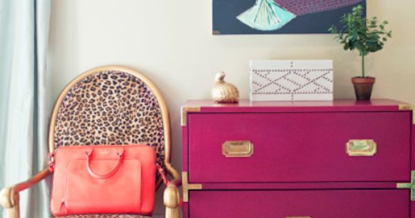 Love the color of the chest of drawers